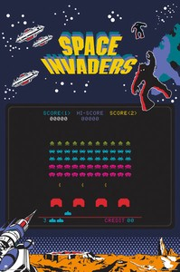 ■ポスター■610X915mm★SPACE INVADERS