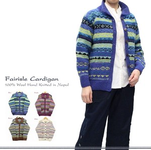 New Color Hand Knitting Knitted Weaving Wool Cardigan