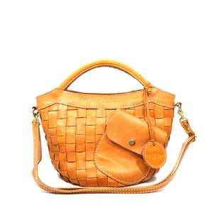 zucchero filato Leather Mesh Handbag