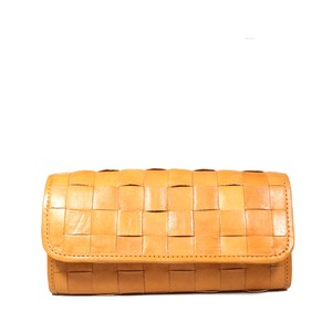 fes Leather Mesh Long Wallet