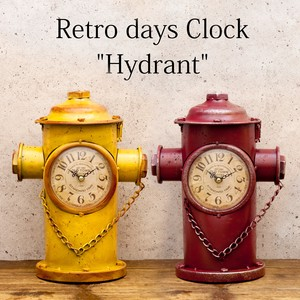 Table Clock Retro Days Clock