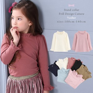 Stand Color Frill Design Cut And Sewn 7 Colors Girls Kids