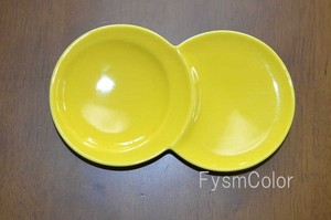 HASAMI Ware Subdivision Plate Yellow Weight