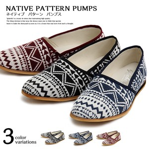 Repeating Pattern Native Pumps Babouche Shoes