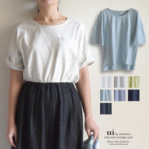 S/S Plain Cut And Sewn Top T-shirt