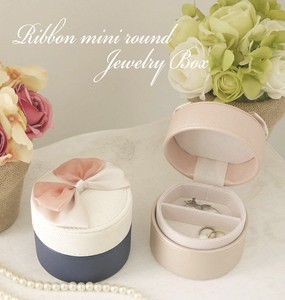 Ribbon Round Jewelry Box