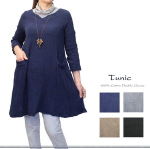 Double Gauze Cotton Neck Switch Tunic