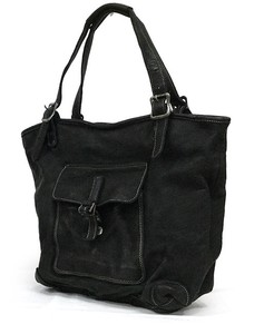 Oil Leather Tote Bag