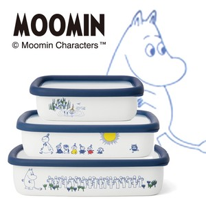 Enamel The Moomins Shallow Type Food Container