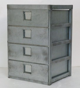 Feel Tinplate Material Tinplate 4 Steps Chest