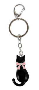 Cat Key Ring Ribbon Cat Dear Cat Series