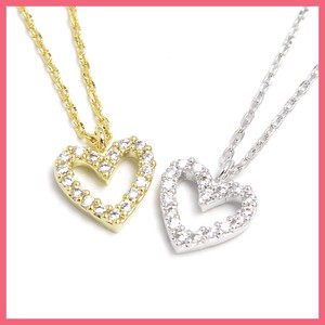 Cubic Frame Heart Necklace