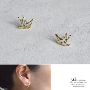 S/S Swallow Bird Watermark Pierced Earring Swallow Bird Accessory