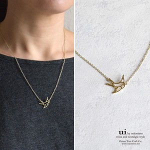 S/S Swallow Bird Watermark Necklace Swallow Swarovski Bird Accessory