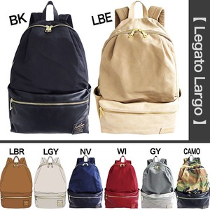 Nylon Synthetic Leather Storage Pocket Backpack