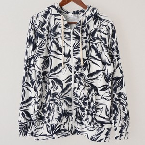 Floral Pattern Long Sleeve Hoody