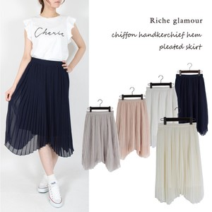 S/S Chiffon Handkerchief Pleats Skirt