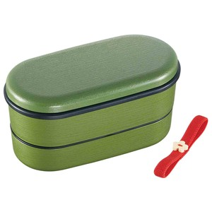 Wood Grain 2 Steps Lunch Box Modern Powdered Tea Attention