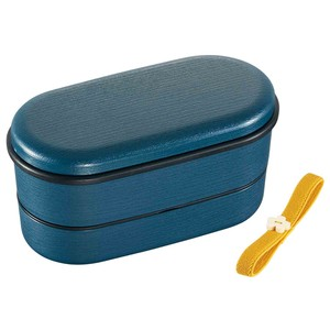 Wood Grain 2 Steps Lunch Box Modern Attention