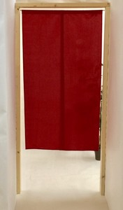 Japanese Noren Curtain Plain Flaming Fire Reversible
