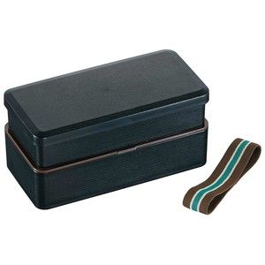 Wood Grain Shokado 2 Steps Bento Men's Modern Attention