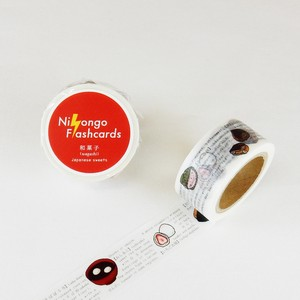 Round Top Flash Card Washi Tape Japanese confectionery