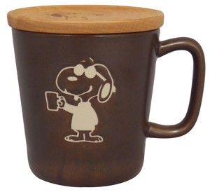 Snoopy Stone Mug Coaster Fancy Box