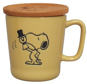 Snoopy Stone Mug Coaster Fancy Box Puppet