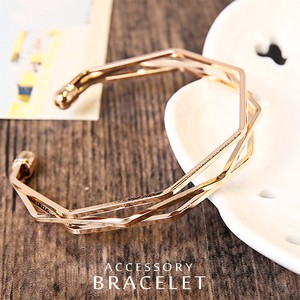 Triple Metal Bangle Line Elegance Production