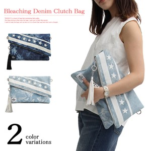 Stars And Stripes Denim Clutch Bag Specification