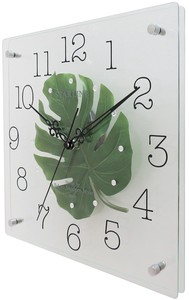 Art Flower Clock Square Type Wall Clock