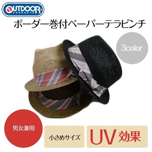 【OUTDOOR】ボーダー巻付ペーパーテラピンチ<3color・UV対策・男女兼用>