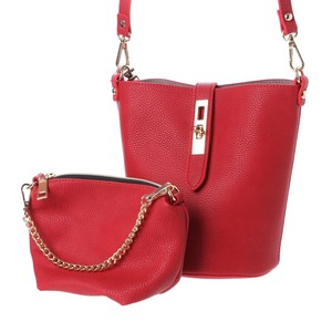 Twist Metal Fittings Bucket Shoulder Bag