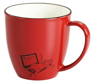 Lacquerware 1Pc Lacquerware Mug Red