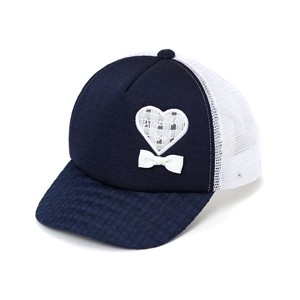 Kids Girls Heart Ribbon Trucker Hat