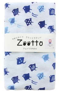 IMABARI TOWEL Houndstooth Pattern Gauze Face Towel Animal Zoo