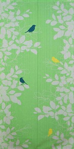 Japanese Noren Curtain Bird Leaf Long