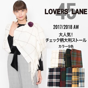 2017 A/W Checkered Large Format Stole
