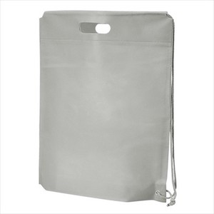 Non-woven Cloth Shoulder Bag Light Grey Single-shoulder velty