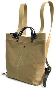 Canvas Spain Leather Backpack Bag