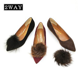 A/W Heel Fur Pumps
