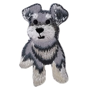 Schnauzer Iron-on Embroidery Patch / for sewing, needlework and craft lovers