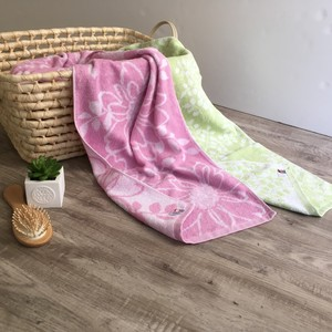 Bathing Towel 2 Pcs Set Imabari Gift Scandinavia Leaf Rose IMABARI TOWEL