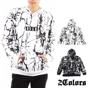 2017 A/W Repeating Pattern Drop Shoulder Fleece Hoody Marble
