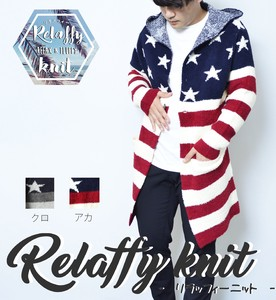2017 A/W Stars And Stripes Long Long Sleeve Knitted Cardigan