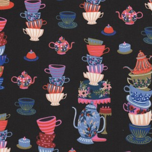 8018-001 MAD TEA PARTY BLACK