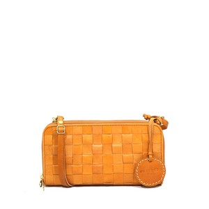 zucchero filato Leather Mesh Wallet Shoulder Bag