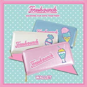 Clear Sanrio Long Wallet Fresh Punch