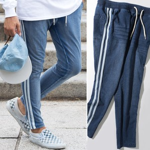 2017 A/W Men's Cut Denim Line Pants Sweat Sweat Skinny