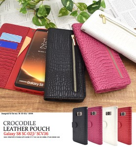 Smartphone Case Crocodile Leather Design Stand Case Pouch